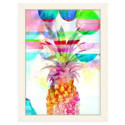 Americanflat Urban Road Collection Pineapple Pink Framed Art Work