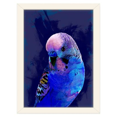 Americanflat Urban Road Collection Abstract Budgie Blue Framed Art Work