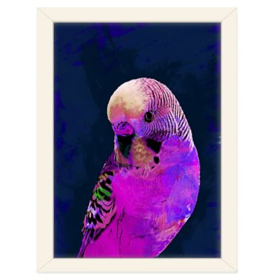 Americanflat Urban Road Collection Abstract Budgie Pink Framed Art Work