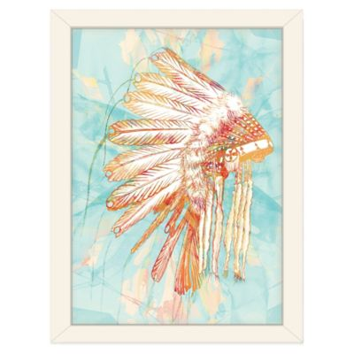 Americanflat Urban Road Indian War Wall Art in Bonnet Blue
