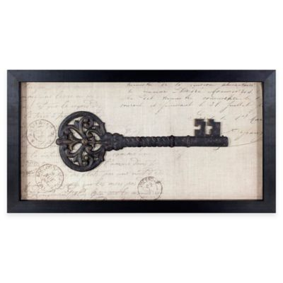 Vintage Key Shadowbox Framed Wall Art