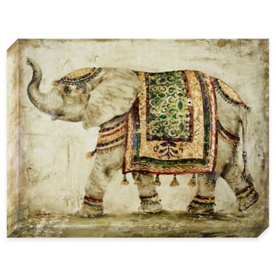 Jeweled Tapestry Elephant Canvas Wall Art