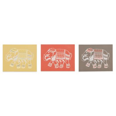Ink + Ivy Lucky Dance Printed MDF Box Wall Decor (Set of 3)