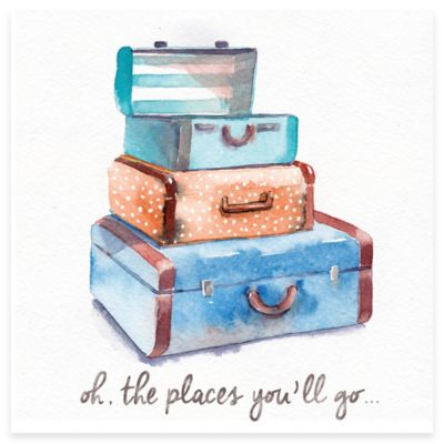 """Oh, The Places You'll Go"" Suitcase Framed Wall Art"