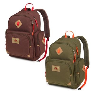 High Sierra® Warren Laptop Backpack in Moss/Electric Orange
