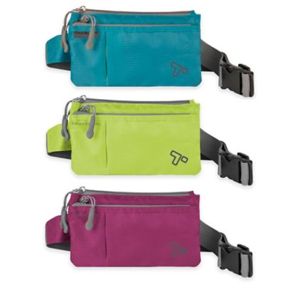 Travelon® 7.5-Inch 6-Pocket Anti-Theft Waist Pack in Aqua