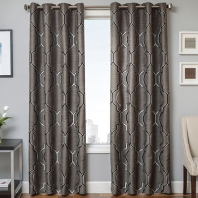 Trinidad 108-Inch Window Curtain Panel in Platinum
