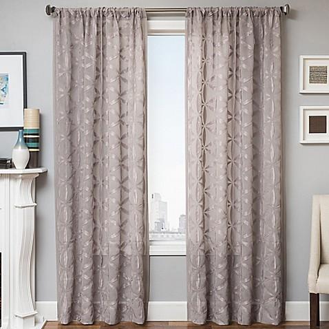Buy Celestia 96 Inch Window Curtain Panel In Light Grey