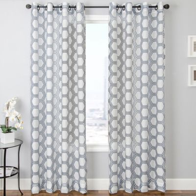 Blue White Curtain Panels