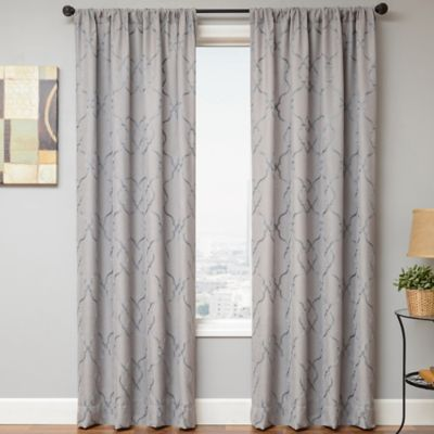Selma Rod Pocket 84-Inch Window Curtain Panel in Slate
