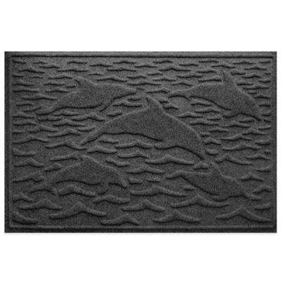 Weather Guard™ 23-Inch x 35-Inch Porpoise Mat in Charcoal