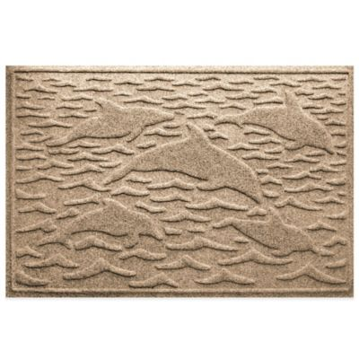 Weather Guard™ 23-Inch x 35-Inch Porpoise Mat in Beige