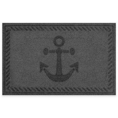 Weather Guard™ 23-Inch x 35-Inch Anchor Mat in Charcoal