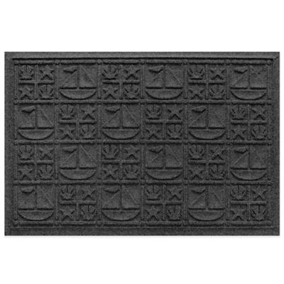 Weather Guard™ 23-Inch x 35-Inch Nautical Mat in Charcoal