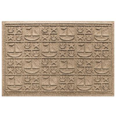 Weather Guard™ 23-Inch x 35-Inch Nautical Mat in Beige