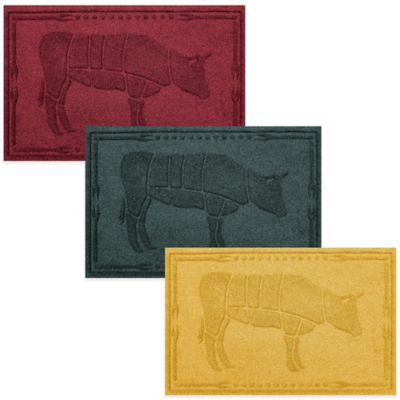 Weather Guard™ 2-Foot x 3-Foot Cow BBQ Mat in Beige