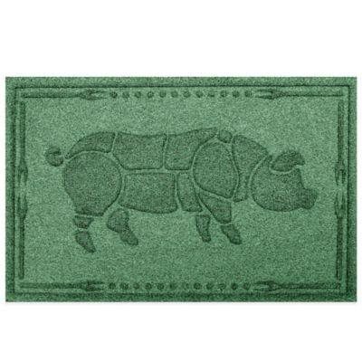 Weather Guard™23-Inch x 35-Inch Hog BBQ Mat in Light Green