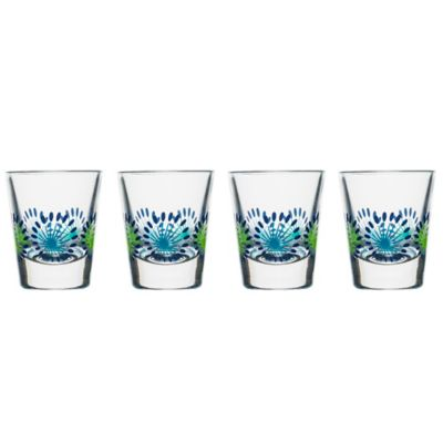 Sagaform® Fantasy Small Drinking Glass in Green Multi (Set of 4)
