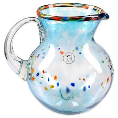 Global Amici Del Sol Glass Pitcher in Multi