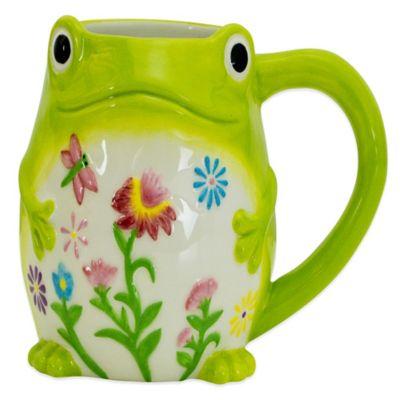 Floral Frog Mug in Green
