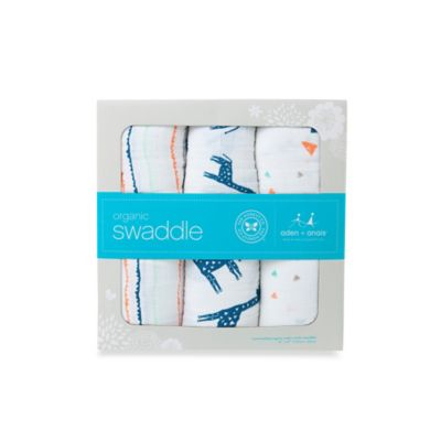 Honest in Collaboration with Aden + Anais® 3-Pack Organic Cotton Giraffe Collection Swaddles
