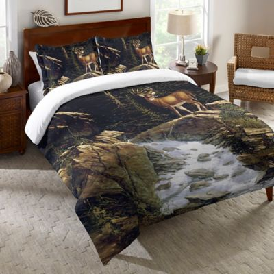 Laural Home® Above the Falls King Duvet Cover in Brown