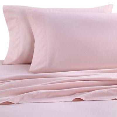 Nine Space Natural Living Linen California King Sheet Set in Pink