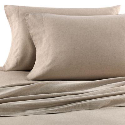 Nine Space Natural Living Linen Full Sheet Set in Khaki