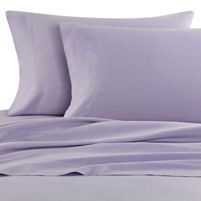 Nine Space Natural Living Linen Full Sheet Set in Lavender
