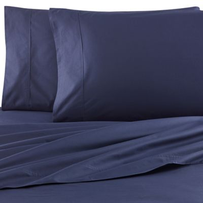 Kenneth Cole Reaction Home Garment Wash King Sheet Set in Navy