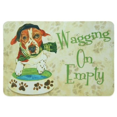 "Bacova ""Wagging On Empty"" Pet Mat"