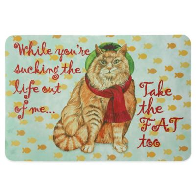 Bacova 19-Inch x 13-Inch Fat Cat Pet Mat