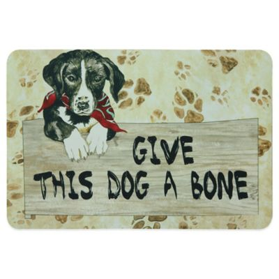 "Bacova 19-Inch x 13-Inch ""Give This Dog A Bone"" Pet Mat"