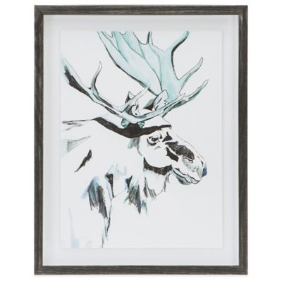 Madison Park Brooke Tangney Ice Moose Frame Graphic Wall Art