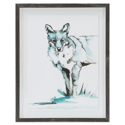 Brooke Tangney Madison Park Ice Fox Frame Graphic Wall Art