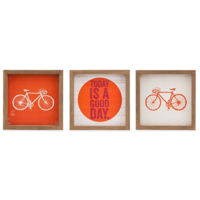 Evangeline Taylor Today Is A Good Day 3-Piece Framed Gel Coat Wall Art