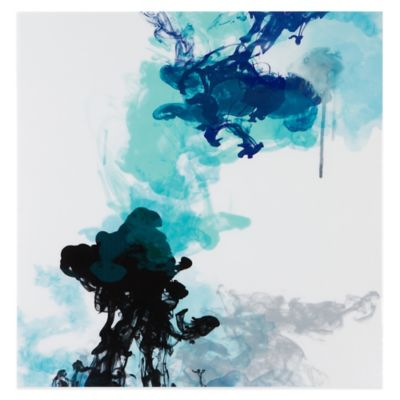 Evangeline Taylor Water & Ink I Printed Canvas with Glass Coat Wall Art