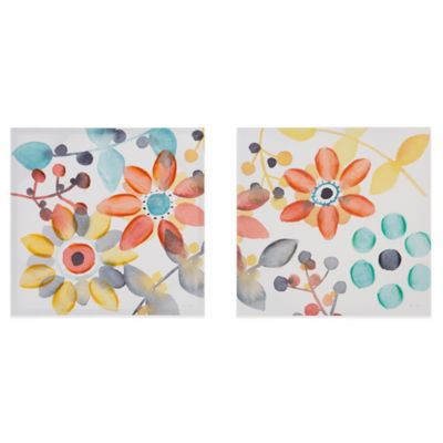 Sweet Florals Wall Art (Set of 2)