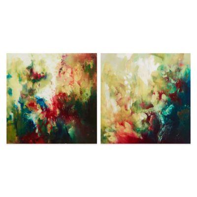 Stefano Waterbloom Printed Canvas with Gel Coat (Set of 2)