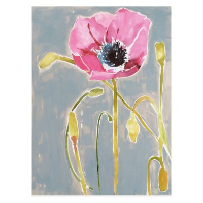 Somber Poppy III Wall Art