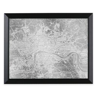 HeadWest London Map Framed Mirror