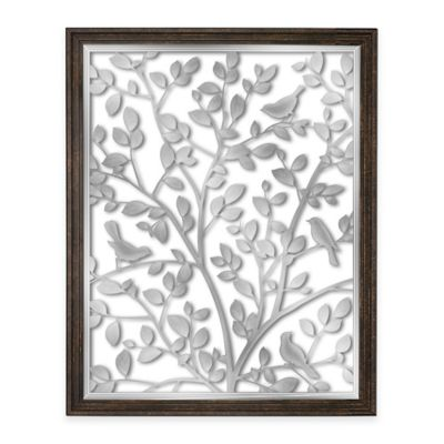 Bird Garden Etched Mirrored Wall Art