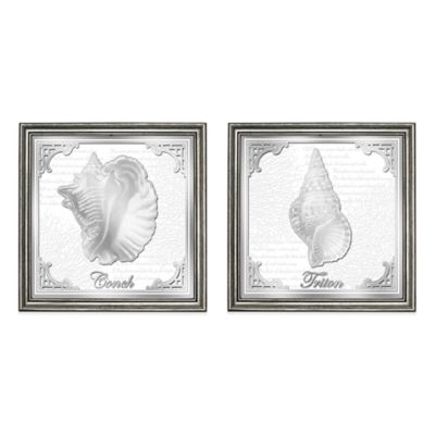 HeadWest Seashell Mirror Panels (Set of 2)