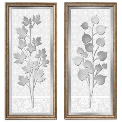 HeadWest Maple/Aspen Leaf Mirror Panels (Set of 2)