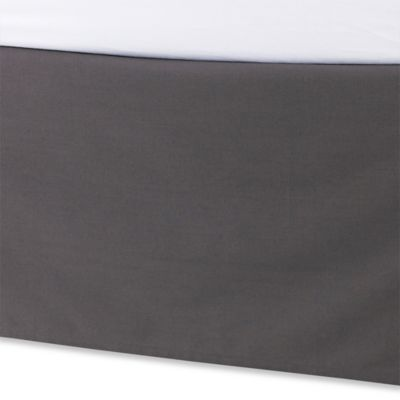 Kenneth Cole Reaction Home Waffle Twin Bed Skirt in Charcoal