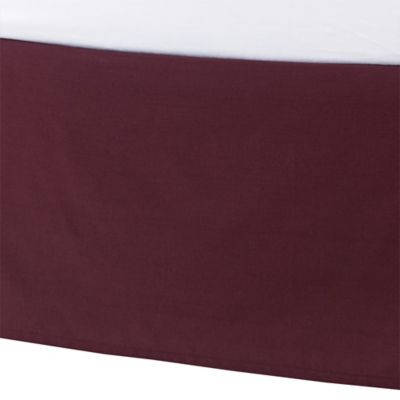 Kenneth Cole Reaction Home Waffle Twin Bed Skirt in Cranberry