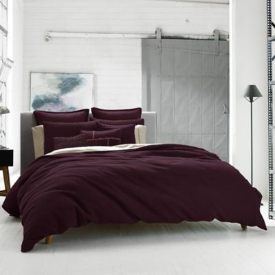 Kenneth Cole Reaction Home Waffle Twin Duvet Cover in Cranberry