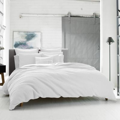 Kenneth Cole Reaction Home Waffle King Duvet Cover in White
