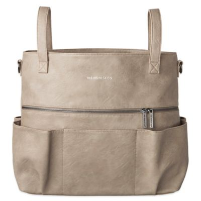 Honest Carryall Satchel Diaper Bag in Elephant Grey