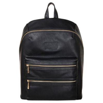 Honest City Backpack Diaper Bag in Black
